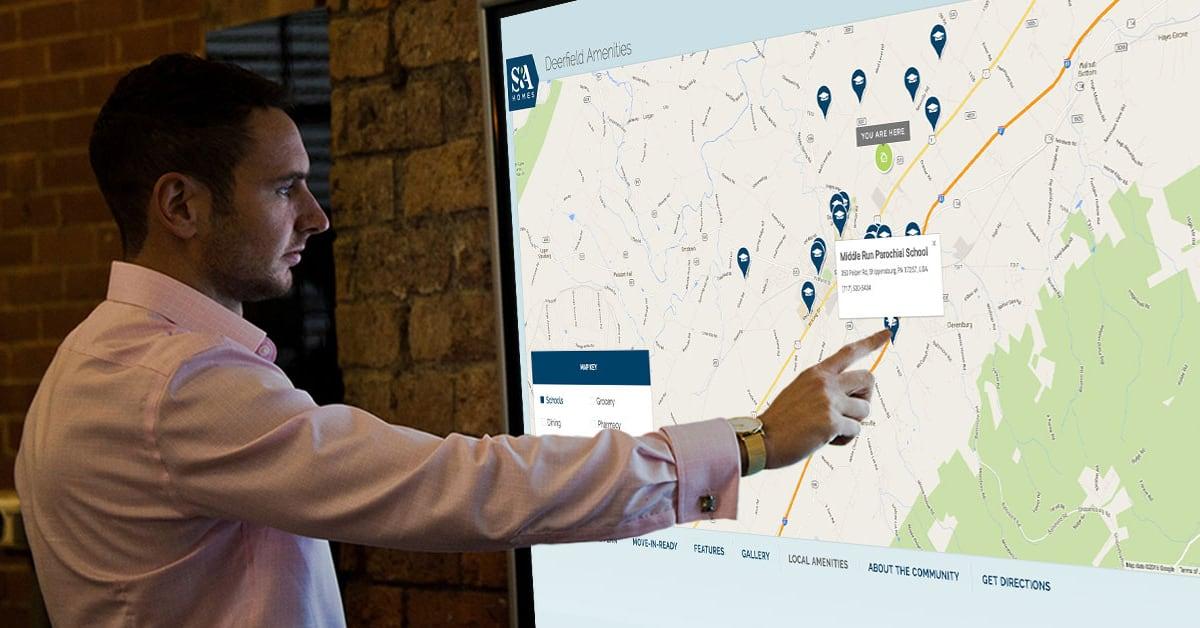 Homebuilder Interactive Sales Kiosks by Graphic Language