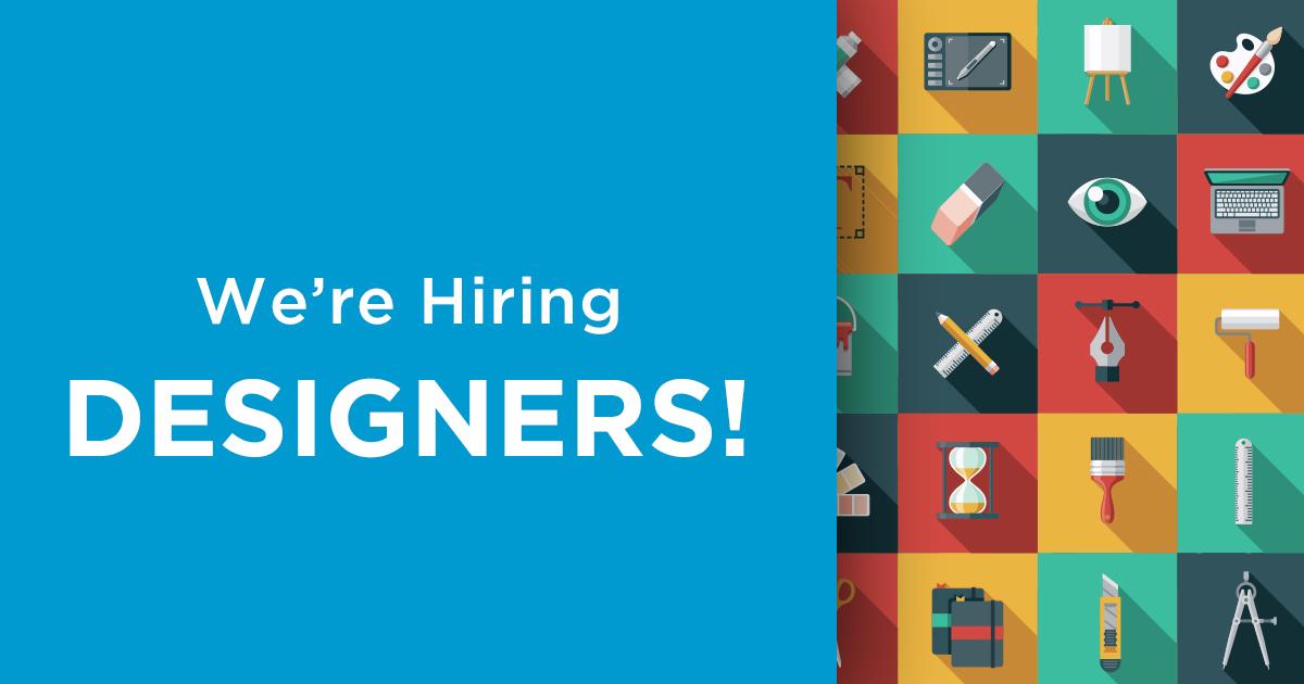 Now hiring designers